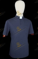 POLO CLERGY BLU
