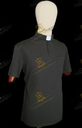 POLO CLERGY NERA IN FILO DI SCOZIA