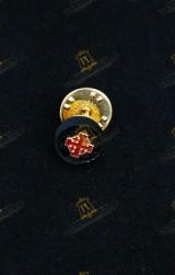 ROSETTE LAPEL PIN FOR KNIGHT HOLY SEPULCHRE JERUSALEM (KHS)