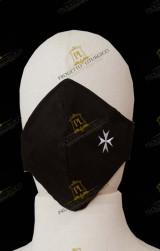 WHITE REUSABLE COTTON FACE MASK FOR  HOLY  SEPULCHRE  KNIGHT