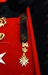 MINIATURE FOR KNIGHT OF MAGISTRAL GRACE ORDER OF MALTA