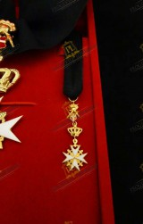 MINIATURE FOR KNIGHT OF GRACE AND DEVOTION ORDER OF MALTA