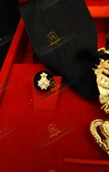 ROSETTE FOR KNIGHT OF HONOUR AND DEVOTION ORDER OF MALTA