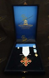 INSIGNIA FOR KNIGHT OF OFFICE SACRED MILITARY COSTANTINIAN ORDER OF SAINT GEORGE - FRANCO NAPOLITAN BRANCH