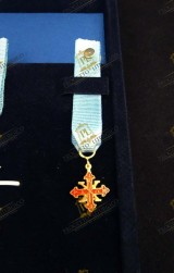 MINIATURE INSIGNIA KNIGHT OFFICE SACRED MILITARY COSTANTINIAN ORDER OF SAINT GEORGE - NAPOLITAN BRANCH